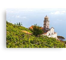 Church Above The Clouds Canvas Print
