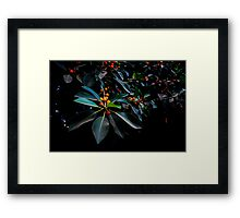 """Orange, Green and Dark"" Framed Print"