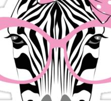 Fashion Animals - Zebralicious | artwork by Olga Angelloz Sticker