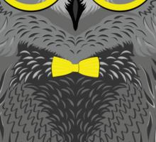Fashion Animals - Master Owl | artwork by Olga Angelloz Sticker