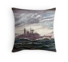 D86 HMS Birmingham Throw Pillow