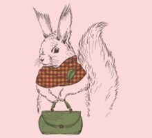 Fashion Animals - Daint Ms Squirly | artwork by Olga Angelloz by ccorkin