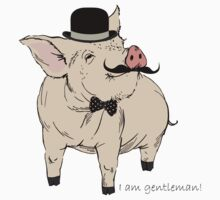 Fashion Animals - Sir Gentle Piggy Pig | artwork by Olga Angelloz by ccorkin