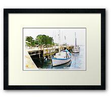 Fishing Wharf Framed Print
