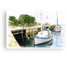Fishing Wharf Canvas Print