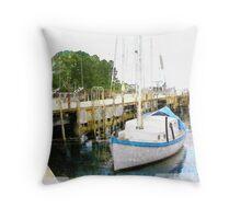 Fishing Wharf Throw Pillow
