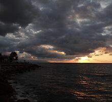 clouds of an indian summer's evening -  nubes de una nochecita de un veranillo de san miguel by Bernhard Matejka