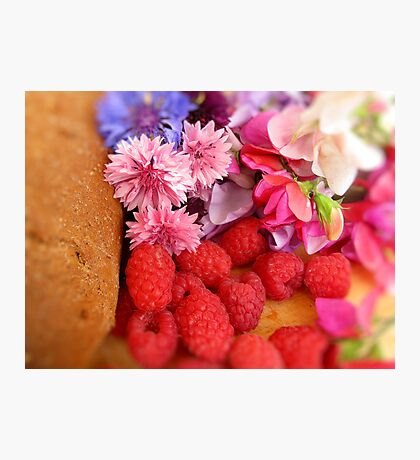 Home Baking & Summer Flowers Photographic Print