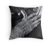 Old Hand Throw Pillow