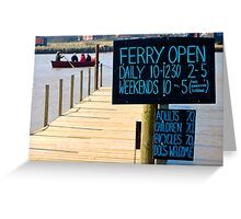 The Ferry at Southwold  Greeting Card