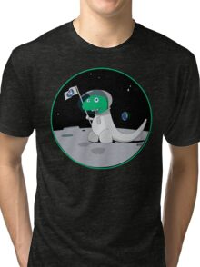 Space Dino Moon Tri-blend T-Shirt