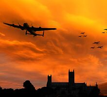 Lancaster Lincoln Sunset by J Biggadike