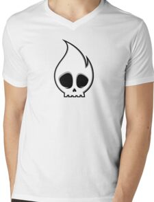 Soulthrow Skull Mens V-Neck T-Shirt