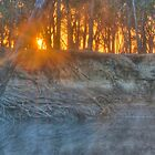 Sunrise over a foggy Goulburn River by Thomas Stayner