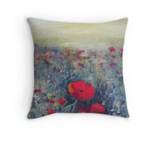 Poppies - Early summer Throw Pillow