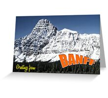 Banff national park Alberta Greeting Card