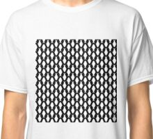 Seamless pattern with white fish Classic T-Shirt