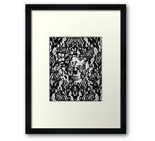 Butterfly lace skull pattern.  Framed Print