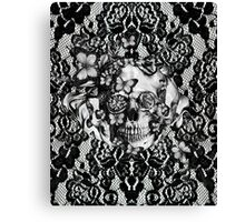 Butterfly lace skull pattern.  Canvas Print