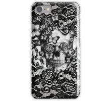 Butterfly lace skull pattern.  iPhone Case/Skin