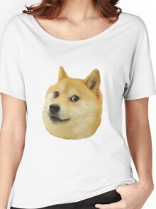 shibe doge face Women's Relaxed Fit T-Shirt