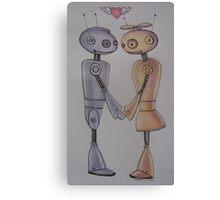 Robot Romance Canvas Print