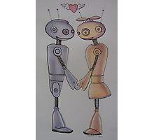 Robot Romance Photographic Print