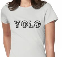 YOLO (black text) Womens Fitted T-Shirt
