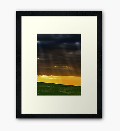 Let The Light Shine Down  Framed Print