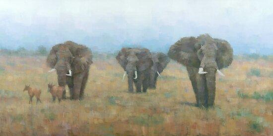 Kenyan Elephants by Stephen Mitchell