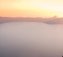Crater Lake Panorama by Carrie Cole