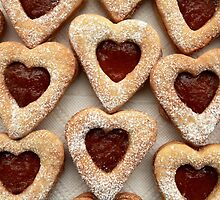biscuits hearts with jam by mrivserg