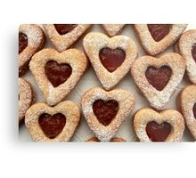 biscuits hearts with jam Metal Print