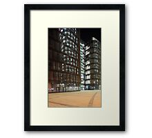 skyscraper  at night Framed Print