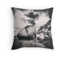 Stone Elephant Throw Pillow