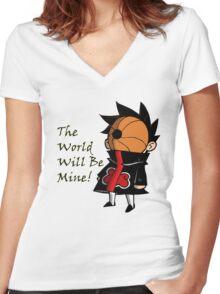 Chibi Tobi Women's Fitted V-Neck T-Shirt