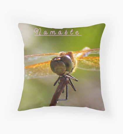 Namaste` Throw Pillow