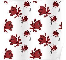 seamless pattern with red poppy Poster