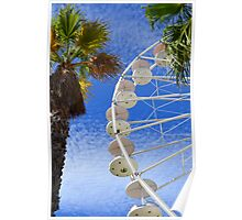 Ferris wheel and palm trees Poster
