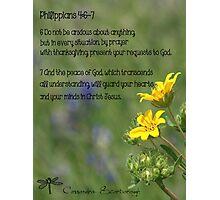 Philippians 4:6-7 Photographic Print