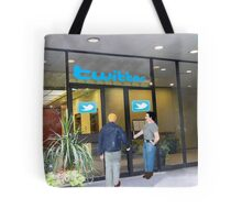 Every time I head back to the office, I just can't shake the feeling that I'm being followed. Tote Bag
