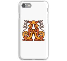 monogram A,A. iPhone Case/Skin