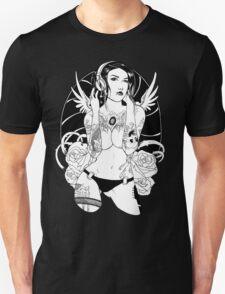Tat Angel (BW Version) Unisex T-Shirt