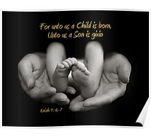 For unto us a child is born Poster