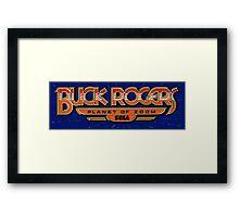 Buck Rogers Arcade Framed Print