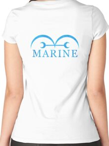 One Piece Marine Logo Women's Fitted Scoop T-Shirt