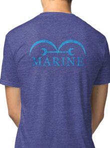 One Piece Marine Logo Tri-blend T-Shirt