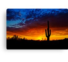 Sonoran Style Sunset  Canvas Print