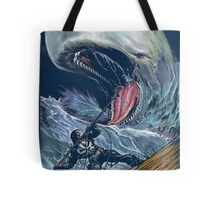 in the heart of the sea Mobydick VS Frank Castle ilustration Tote Bag