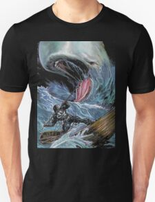 in the heart of the sea Mobydick VS Frank Castle ilustration T-Shirt